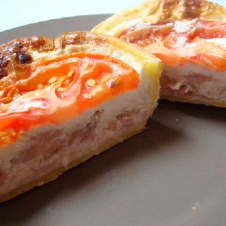 Tartelette au thon et à la tomate