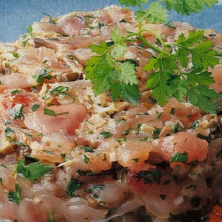 Tartare de thon créole à la sauce piquante