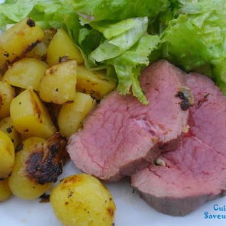 Rôti de bœuf au four et pommes de terre